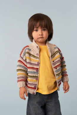 Standout Stripes Cardigan in Lion Brand Vanna's Choice - 60812A