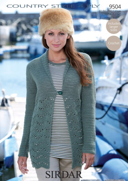 Cardigan With Shawl Collar in Sirdar Country Style 4 Ply - 9504