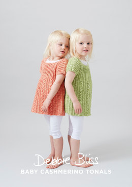 Siobhan Tunic Top - Knitting Pattern For Kids in Debbie Bliss Baby Cashmerino Tonals