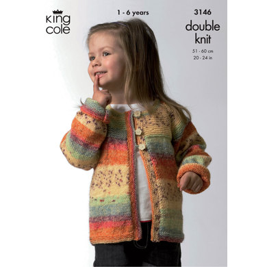Sweater & Cardigan in King Cole Splash DK - 3146