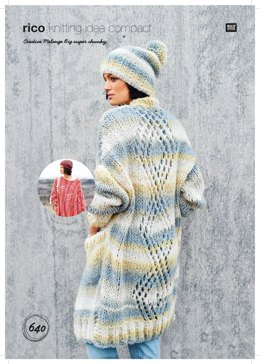 Poncho, Coat and Hat in Rico Creative Melange Big Super Chunky - 640 - Downloadable PDF