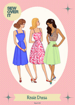 Sew Over It Rosie Dress - Downloadable PDF, Size UK 8-20