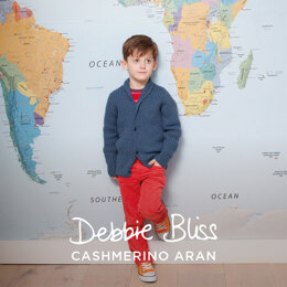 """Milo Cardigan"" - Cardigan Knitting Pattern For Boys in Debbie Bliss Cashmerino Aran - DBS071"