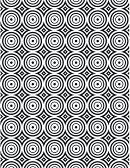 """Creative Expressions Embossing Folder 5.75""""X7.5"""" - Circle Illusion"""