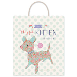 Tilda LazyDays Playful Kitten Sewing Kit - 9,3in-24cm