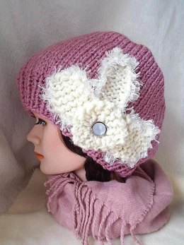 1344510bcf466 749 HAT with KNIT FLOWER
