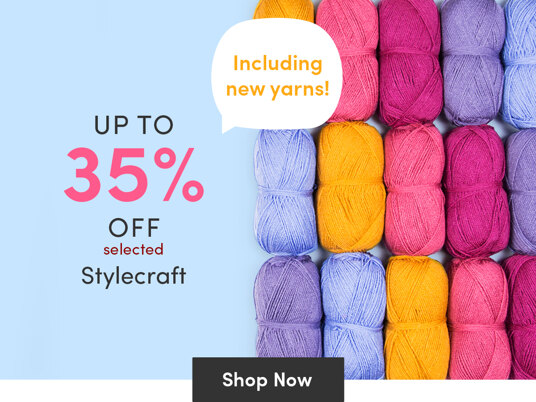 Up to 35 percent off selected Stylecraft - including new yarns!