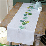 Vervaco Botanical Leaves Table Runner Embroidery Kit