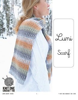 Lumi Scarf in Knit One Crochet Too Elfin Tweed - 2432 - Downloadable PDF