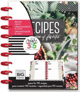 """Me & My Big Ideas Happy Planner 12-Month Undated Medium Planner 7.75""""X9.75"""" - Recipes, Collection Of Favorites"""