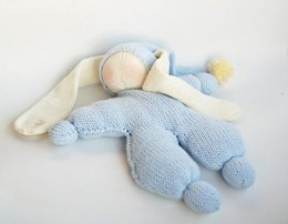 Waldorf knitted Rabbit doll for small babies