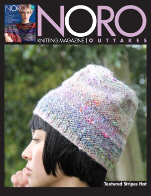 Textured Stripes Hat in Noro Kiso - 14422 - Downloadable PDF
