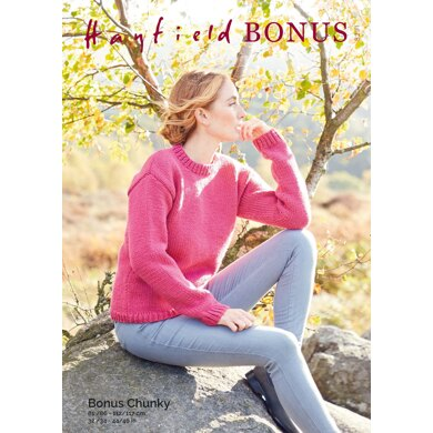 Sweater in Hayfield Bonus Chunky - 8291 - Downloadable PDF