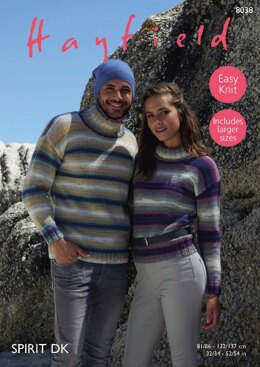 Sweaters in Hayfield Spirit DK - 8038 - Downloadable PDF