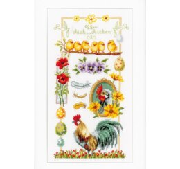Vervaco About Chickens Cross Stitch Kit - Multi