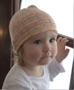 Striped Baby Hat in Plymouth Yarn Dreambaby DK Paintpot - F660 - Downloadable PDF
