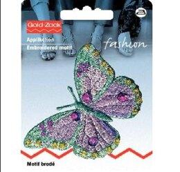 Prym Cream and Mint Butterfly Embroidered Motif