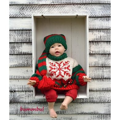 Baby Knit Christmas Sweater Knitting pattern by Bummbul