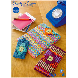 Crochet Tech Covers in Stylecraft Classique Cotton DK - 8850