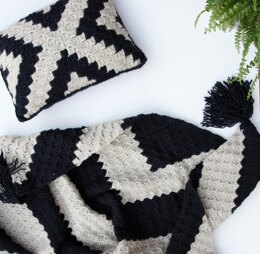 X Marks the Spot C2C Pillow + Lapgan Set