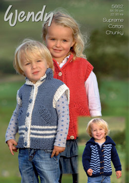 Jacket and Gilet in Wendy Cotton Chunky - 5662