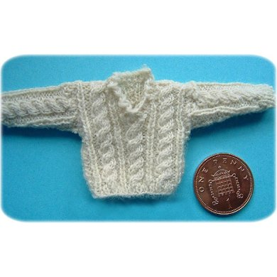 1:12th scale childs cable sweater
