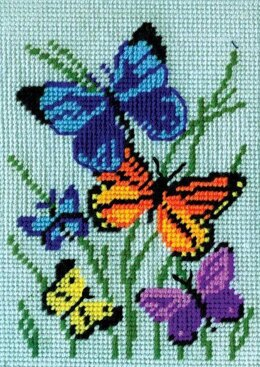 Design Works Butterfly Tapestry Kit - 13 x 18 cm