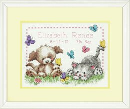 Dimensions Pet Friends Birth Record Counted Cross Stitch Kit