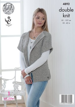 Sweater & Cardigan in King Cole Authentic DK - 4892 - Leaflet