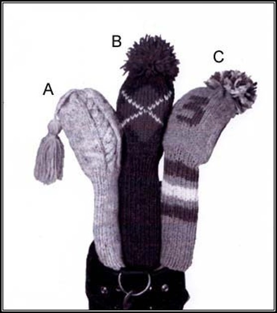 Golf Club Covers: Argyle Version in Lion Brand Wool-Ease Knitting Patterns ...