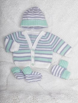 Premature Baby Cardi, hat, mitts and booties