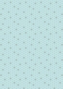 Lewis & Irene Bee Kind Blue Honeycomb Cut to Length