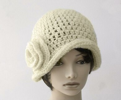 1920 s Flower and Leaf Cloche Hat Crochet pattern by Judith Stalus d77ca747ee8