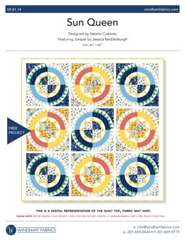 Windham Fabrics Sun Queen - Downloadable PDF