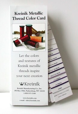 Kreinik Metallic Threads Shade Card