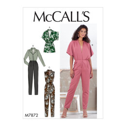 McCall's Misses' Romper and Jumpsuit M7872 - Sewing Pattern