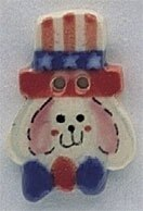 Mill Hill Button 86127 - Uncle Sam Bunny