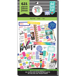 Me & My Big Ideas Happy Planner Sticker Value Pack - Faith - Classic, 621/Pkg