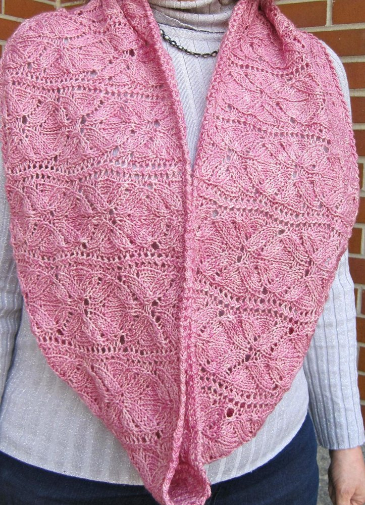 Vinco Lace Flower Cowl Infinity Scarf Knitting Pattern By