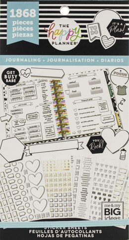 The Happy Planner Sticker Value Pack - Happy Journal Functional, 1868/Pkg