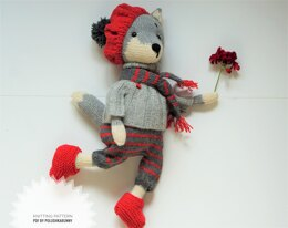 Doll clothes, Knitting Pattern - Outfit La France