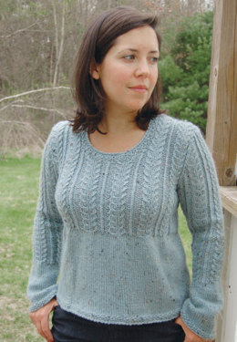 Kelly Pullover in Knit One Crochet Too Brae Tweed - 1628