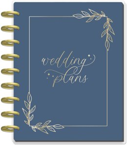 "Me & My Big Ideas Happy Planner 12-Month Undated Classic Planner 9.25""X7"" - Wedding Dreams"