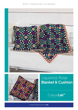 Liquorice Rose Blanket & Cushion Set in West Yorkshire Spinners ColourLab - Downloadable PDF