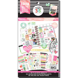 Me & My Big Ideas Happy Planner Sticker Value Pack - Watercolor - Classic, 1078/Pkg