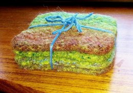 Rainforest Felted Coasters