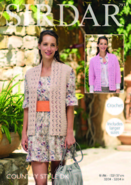 Jacket and Waistcoat in Sirdar Country Style DK - 7937 - Leaflet