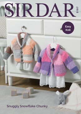 Cardigans in Sirdar Snuggly Snowflake Chunky - 5197 - Downloadable PDF