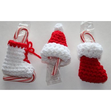 Mini Candy Cane Holder Christmas Ornaments