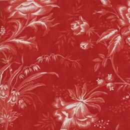 Moda Fabrics 3 Sisters Snowberry Berry Floral Toile Red